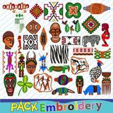 Arte Rupestre Simbolos Set 35 Bordados Ponchados Matrices
