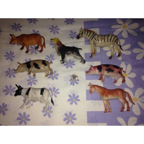 Lote 7 Animais De Brinquedo Usado Bom Estado Fazendinha R$54