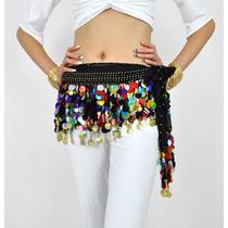 Increible Fajilla Pareo De Colores Danza Arabe Bellydance