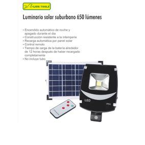 Panel Luminario Solar Suburbano Lion Tools 650 Lumenes