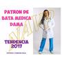 Patrones Moldes Imprimibles Bata Medica