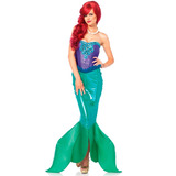 Fantasia Ariel Sereia Adulta De Luxo Com Busto Em Pedraria