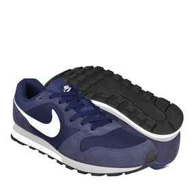 Tenis Casuales Nike Para Hombre Textil Navy White 749794410