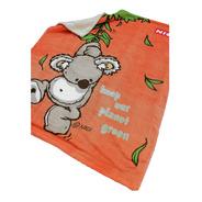 Cobertor Con Borrega Nici Para Bebé 1.00x1.30 Modelo Koala