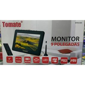 Tv Portátil Led Monitor Tv Digital 9 Pol Micro Sd C/ Antena