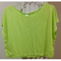 Blusa Estilo Crop Top Neon De La Mujer Casual Juvenil.