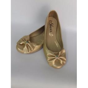 Zapato Linda Baleta Calzado Dama Dorada Mujer Envío Gratis