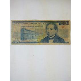 Billete Antiguo 50 Pesos Benito Juarez 1967