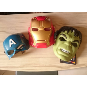 Kit 3 Mascara Homem De Ferro Hulk Capitão America