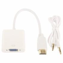 Cable Adaptador Convertidor Hdmi A Vga + Regalo Cable 3.5mm