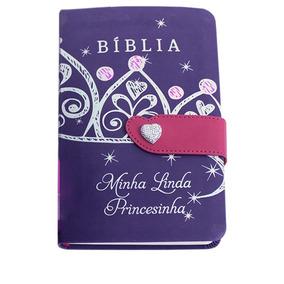 Biblia Minha Linda Princesinha Capa Flexível Com Fecho Cpad