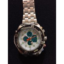 Relógio Masculino Atlantis Sport G3088 Prata/branco Anadigi