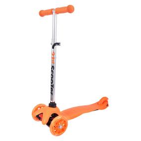 Patinete 3 Rodas Scooter Brinquedo Infantil Aro Com Led