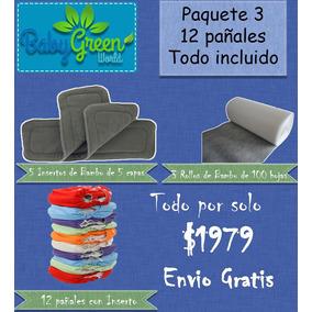 Pañales Ecológicos Super Paquete 3 (12 Pañ. Todo Incluido)