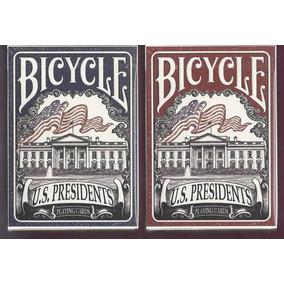 2 Mazos De Cartas De Coleccion Bicycle Presidents Ed Limitad