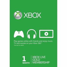 Xbox Live Gold Brasil Br Usa - Codigo 1 Mes 30 Dias