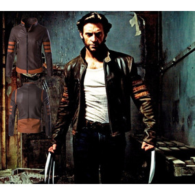 Jaqueta De Couro Wolverine Cosplay X Men Frete Gratis