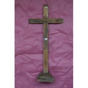 8931 Crucifixo Popular Séc Xix Madeira Policromada