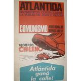 Antiguo Cartel Cartulina Lanzamiento Atlantida Vuelve Peron