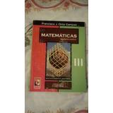 Libro Matemáticas Iii, Francisco J. Ortiz Campos.