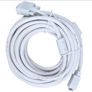 Cable Vga A Vga Macho - Macho Reforzado 20 Metros Uso Rudo