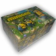 Minions Cofre De Madera Personalizado. (15x15x10)