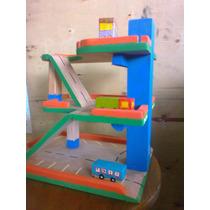 Juguete Didactico En Madera Estacionamiento Para Niños