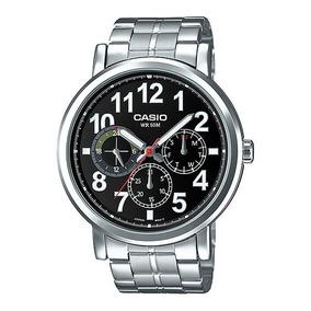6dd376cb3bf Relógio Casio Masculino Mtp-e309d-1a Aço Grande Analogico · R  269 99