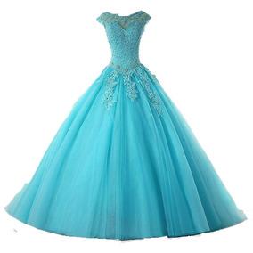 Vestido De Festa Debutante Princesa 15 Anos Formatura Azul