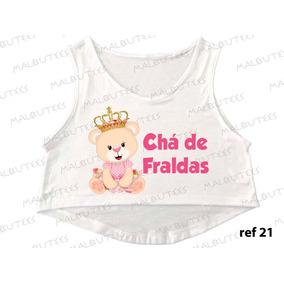 Cropped Chá De Fraldas Bebe Ursinha Princesa Gestante 21
