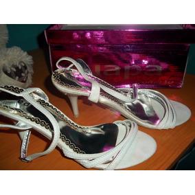 Sandalias Elegantes Blancas De Vestir Para Damas