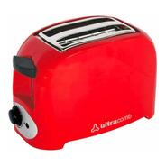 Tostadora Electrica Ultracomb Roja 2 Panes 750w 7 Niveles