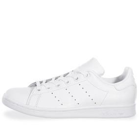 Tenis adidas Stan Smith J - S76330 - Blanco - Mujer