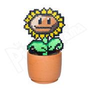 Girasol - Planta Vs Zombies - Maceta Decorativa Pixel Art