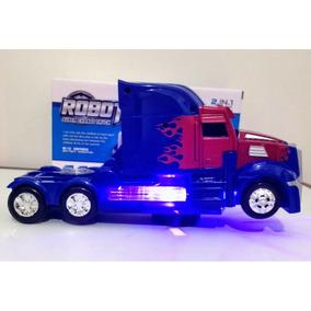 Caminhão Transformers A Pilha (transforma Em Robô)