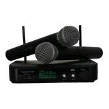Microfono Inalambrico Dos Canales Professional Pantalla Led