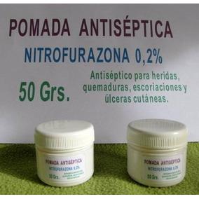 Nitrofurazona 50 Grs,pomada Antiseptica, 2 Potes