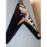 Guitarra Epiphone Flying V Black Korina 1958 Reissue , Korea