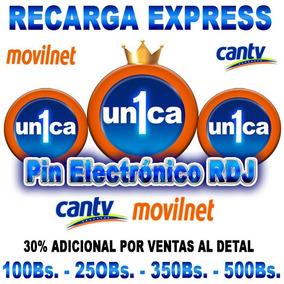 Recarga Tu Movilnet / Cantv ((pin Virtual De 5,00 Bs.))