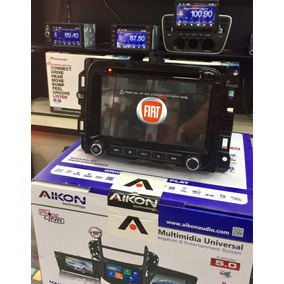 Kit Multimidia Fiat Uno 2015/2017 Aikon Original Dvd/tv/cam