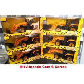 Kit 6 Carros Fricção Construção Máquina Atacado Revenda
