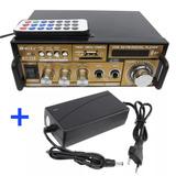 Amplificador Receiver Usb Sd Bluetooth Som Ambiente Casa Pc