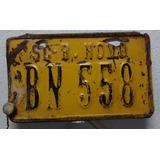 Placa Amarela Antiga Bn558 De Moto Benedito Novo Sc