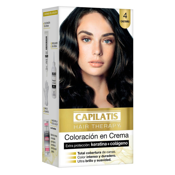 Capilatis Coloración En Crema Casta?o Tono 4