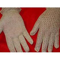 Guantes Beige Tejidos En Crochet, Ideal Novias