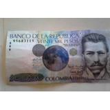 Billete De 20000 Pesos 23 De Julio 1996