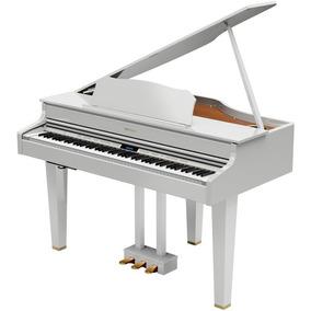 Piano Digital Cauda Gp607 Roland Branco Gp-607 Pwl Com Banco