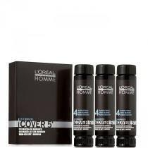Loreal Homme Cover 5 Tintura Castanho Nº4 - 3x50ml + Brinde