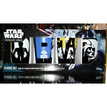 Set 4 Vasos Colección Star Wars Rogue Guerra Galaxias