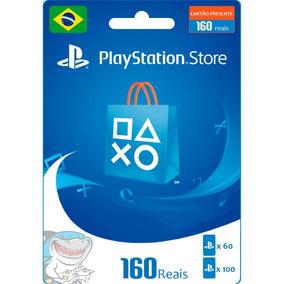 Cartão Psn R$ 100 + 60 ( R$ 160 ) Brasil Ps4 Plus 12 Meses